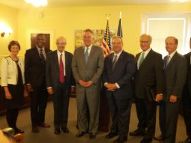 Commission members in Richmond