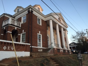 The Phi Kappa Psi house voluntarily closed after Rolling Stone released the allegations. Photo by Hawes Spencer.