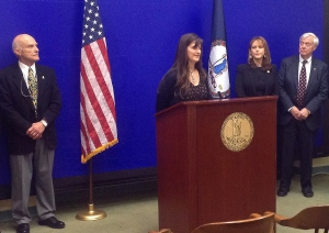 Aimee Hardy advocates for the legislation