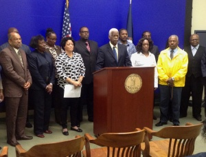 Former Richmond City Councilman Marty Jewell joined community leaders to discuss the forums.