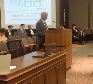 Finance Secretary Ric Brown addresses the Senate Finance  Committee