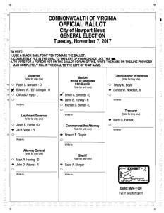 Virginia Election Recount