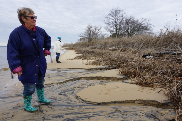 Yvonne Hickman points out erosion